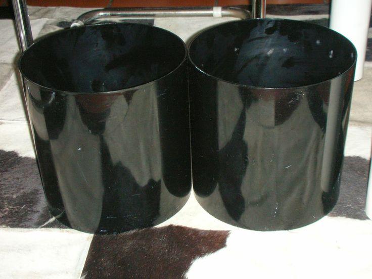 SKYSCRAPER CAPE TOWN - 20th CENTURY CLASSICS: Retro Kartell Black Waste Paper Bins/Pot Plant Hol...