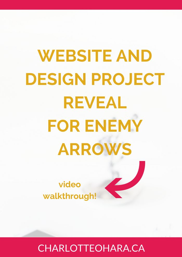 Enemy Arrows Website Reveal | Website design website redesign project | Take a look behind the scenes of the brand new website of Enemy Arrows! This video walkthrough tells you all about the website design process, how we picked a template, designed a brand, included online marketing, and help with book sales. Loads more! Click through to watch the video and read the full blog post or pin and save for later!