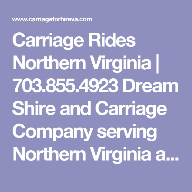 Carriage Rides Northern Virginia | 703.855.4923 Dream Shire and Carriage Company serving Northern Virginia and Washington DC | carriage rides, carriages for hire, horse drawn carriage rides, wedding carriage rides, special event carriage rides, prom carriage rides, birthday carriage rides, funeral carriage rides, anniversary carriage rides.