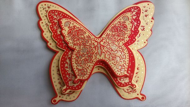 Yellow Red Butterfly Trio
