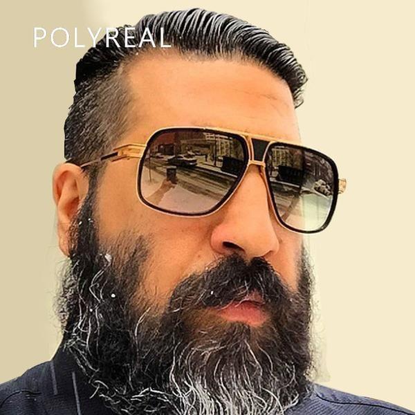 polyreal Oversized Er Fuzweb Large Sunglasses Italy Men Women Square nP0wk8O