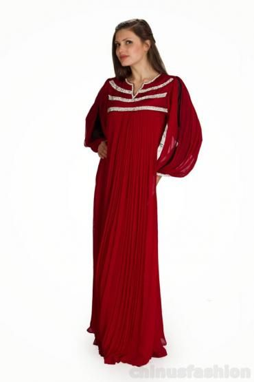 Nasim Maroon Chiffon Gown Style Kaftan #chiffon  #kaftan