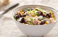 Bohnen-Mais-Salat mit Thunfisch - Eiweißreiche Rezepte für Abnehmen mit Genuss