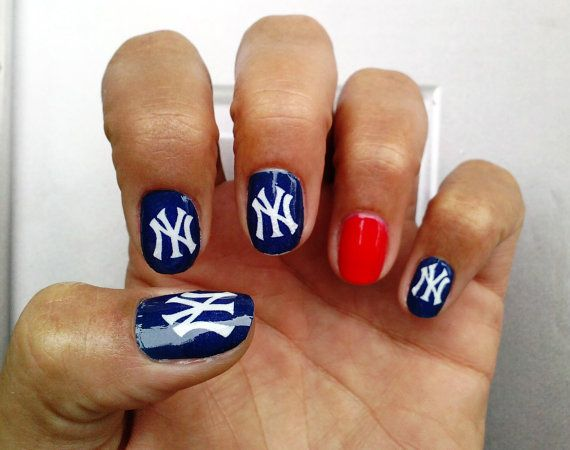 New York Yankees Nail Art Decals by NailSpin on Etsy, $5.00