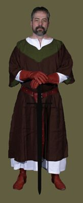 Medieval Clothing and Footwear- 12th Century Mens Undertunic