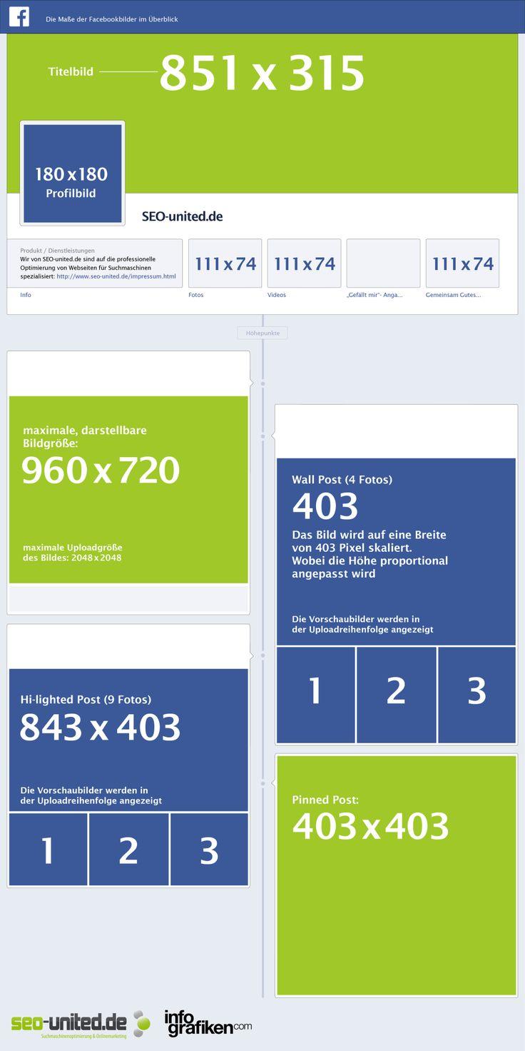 Facebook – Size for images #facebook #infographic #socialmedia