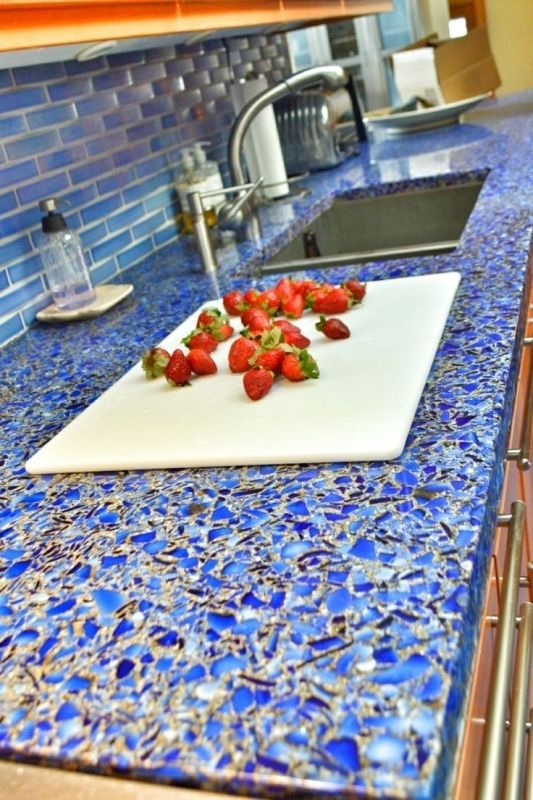 Incredible Recycled Gl Countertops Inspiration Home Kitchen Diy