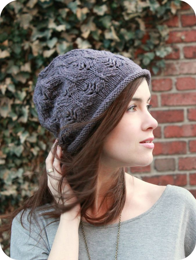 Plum Tree Slouch - Never Not Knitting. This would be a great first lace project to knit up.
