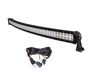 EasyNew® 52? Inch 300W IP68 Waterproof Curved Led Light Bar Truck Light Bar Off Road Led Light Bar with Free Wiring Harness,3 Years Warranty