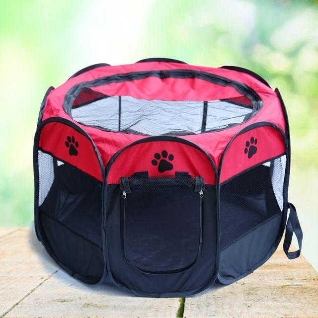 90x60x36 CM Tienda Plegable Para Mascotas Cama Del Perro Valla Corralito Cachorro Perrera Plegable Juego de Ejercicio Diseño Plegable fácil de Llevar Ahorrar Espacio