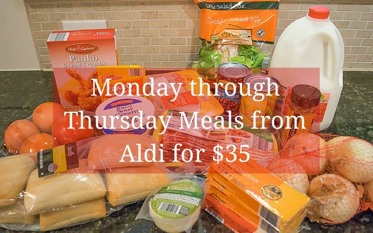 This is How Cheap I Am:  All My Weekday Meals from Aldi for $35