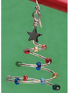 Day 8 of 12 Days of Deals: $2 Merry Merry Wire and Beaded Christmas-tree Earring Project - Jewelry Making Daily - Hurry, ends at 11:59pm CT on Dec 8, 2012!