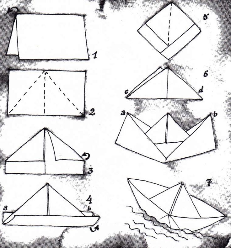 die besten 25 papierschiff falten ideen auf pinterest. Black Bedroom Furniture Sets. Home Design Ideas