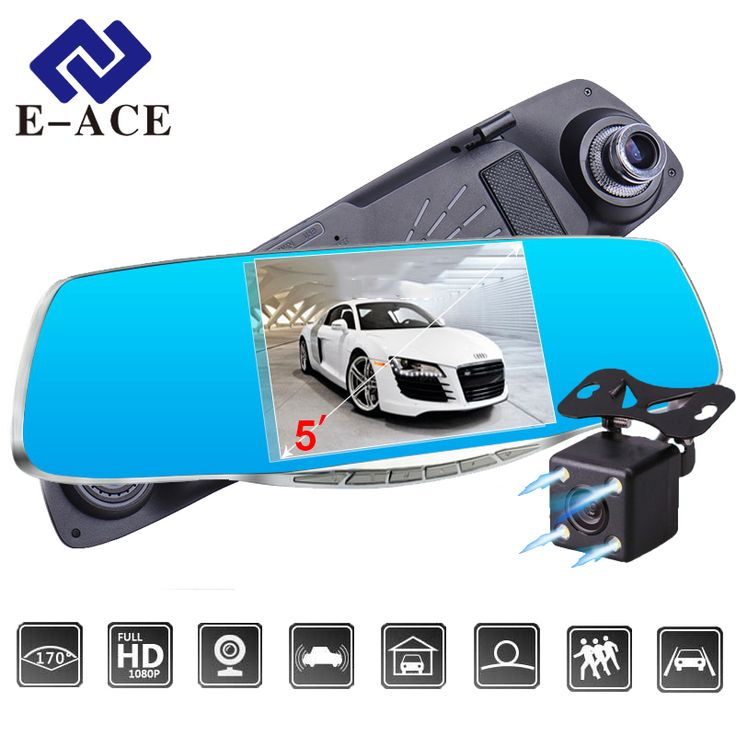 "BUY now 4 XMAS n NY. E-ACE Car DVR 5.0 ""Car camera Full HD 1080P Night Vision Auto Video Recorder Rear view Mirror Dual Lens Parking Monitor Dash Cam -- Offer can be found on  AliExpress.com. Just click the image #christmaswreaths"