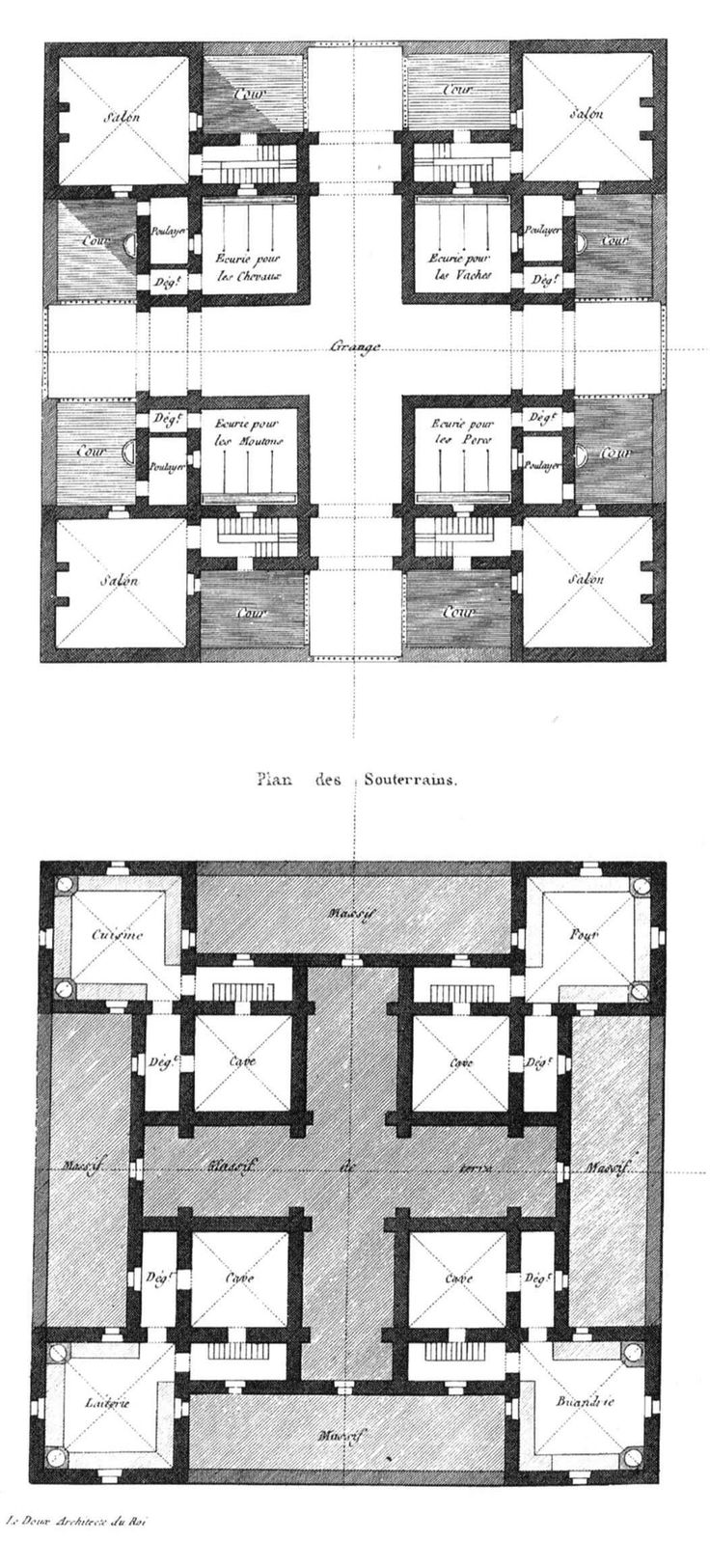 Claude Nicolas Ledoux | Edificio para las Salinas de Arc-et-Senant | Chaux, Francia | 1775