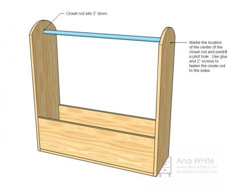 dress-up closet for dramatic play area.  *smaller & maybe not with large bottom.   i want the kids to be able to take things off a hanger and put it back on a hook or rod themselves.
