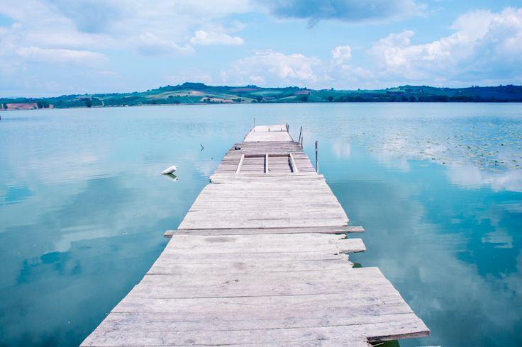 Lago di Chiusi, Umbria, Italia.