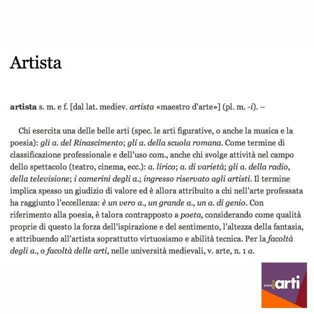 Chi di voi si reputa un #artista?