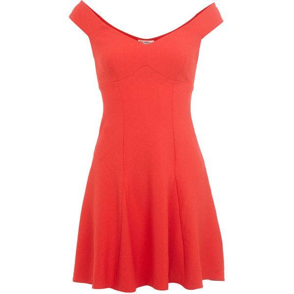 Miss Selfridge Red Bardot Dress found on Polyvore