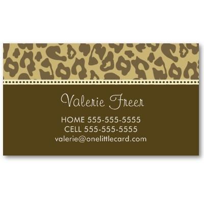 124 best designer business cards images on pinterest business leopard cheetah print business card colourmoves Images