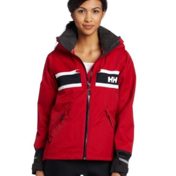 Womens Red Helly Hansen Coat With Hood Helly Hansen Coat Helly Hansen Jackets & Coats