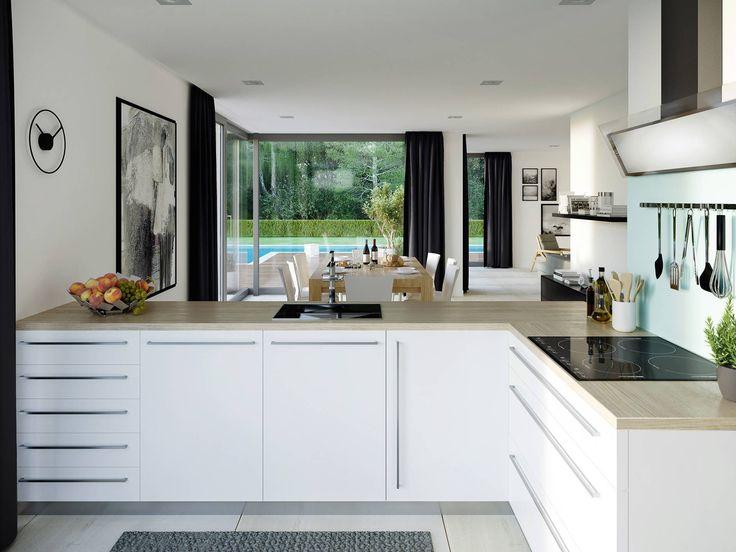 Die Besten 25+ Offene Küchen Ideen Auf Pinterest Große Offene   Offene  Wohnkuche Gestalten Trennen