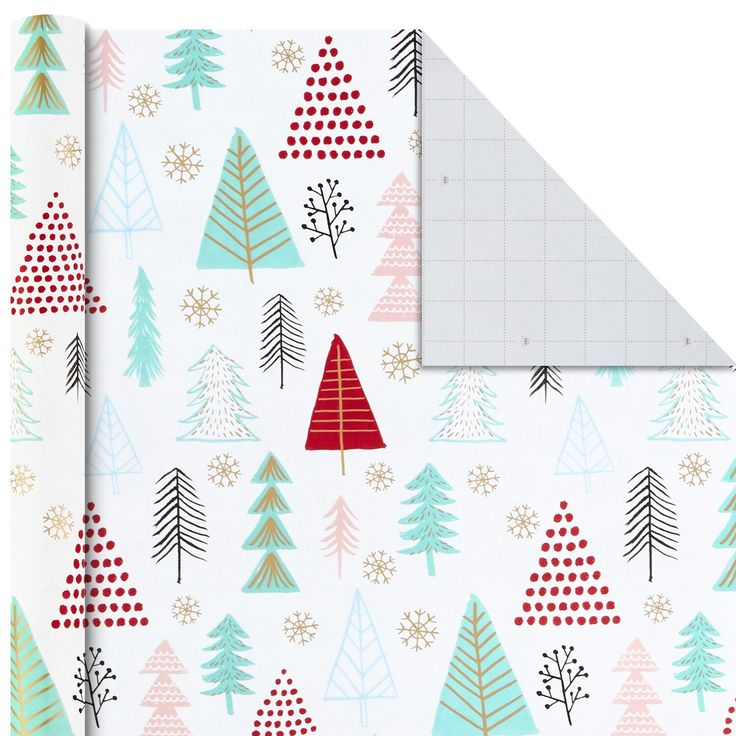 Hallmark Christmas Quirky Trend Wrapping Paper Bundle (4