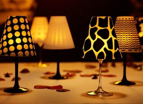 Abajururi creative pentru pahare de vin - Mindblower