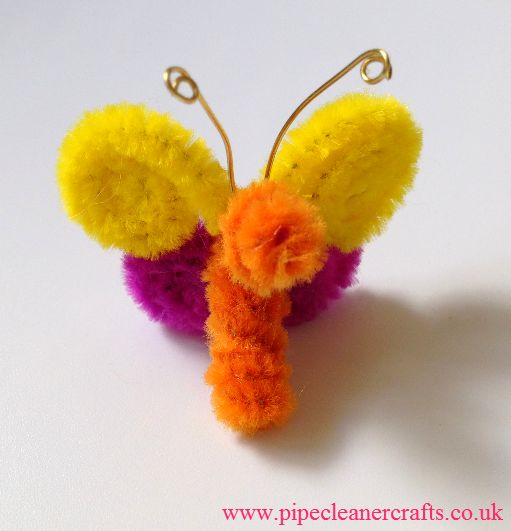 Pipe cleaner butterfly by Elena Barsky - Video tutorial: http://youtu.be/7otq9dvH1DY