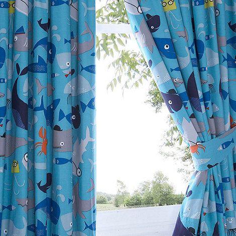 Ben de Lisi Home Kids 'Sharkey' pair of curtains-   Debenhams