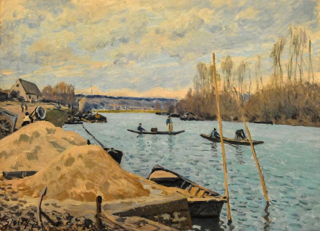 Alfred Sisley - The Seine at Port Marly, Piles of Sand, 1875 at Art Institute of Chicago