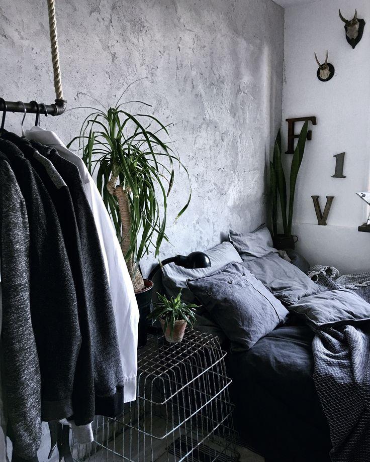 Industrial style,pokój chłopaka, bedroom...Instagram lavien_home_decor