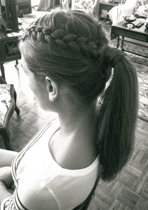 two long, large strands on the front of your hair and make two braids. Vle …, #big …