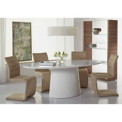Euro Style 5 Piece Deodat Dining Table Set with Zad Chairs - EUS1927