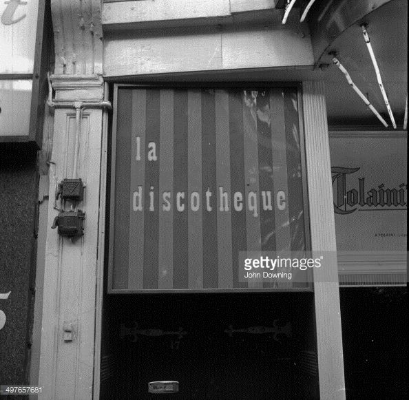 La Discotheque Club (known as The Disc) on Wardour street, 1964. La Discotheque is often credited as being the first London disco, in the sense of being the first club to only play recorded music in London.