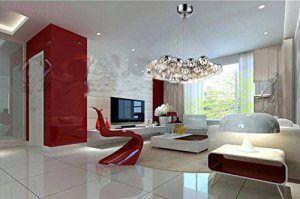 Nilight Modern 19 Lights Chrome Glass Globe Ceiling Light Pendant Lamp Chandelier
