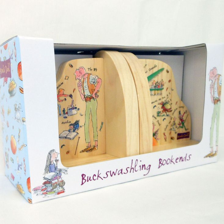 This pair of bookends would make a great edition to any Roald Dahl book collection