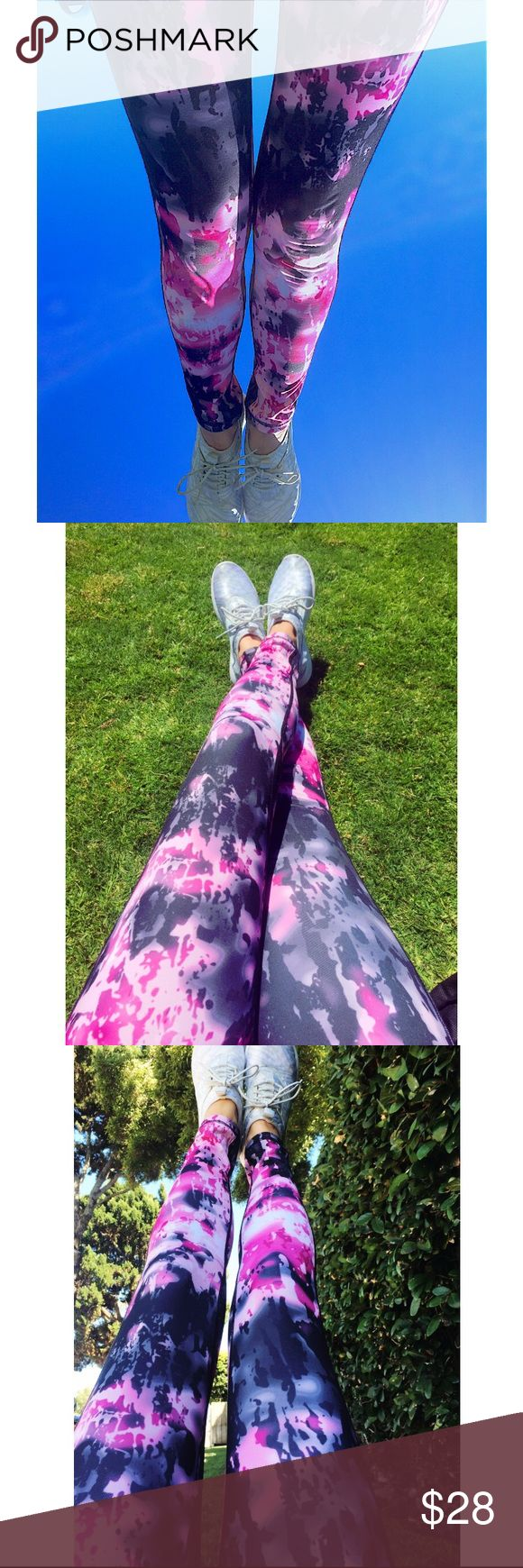 Weekend sale✨Aspana print leggings Elevate your asana with a mindful design inspired by your active lifestyle. Aspana Yoga Lifestyle Leggings. Graffiti print, pink combo, rich black. Size small. They really look like the lululemon leggings on the last photo. {Not lululemon} lululemon athletica Pants Leggings