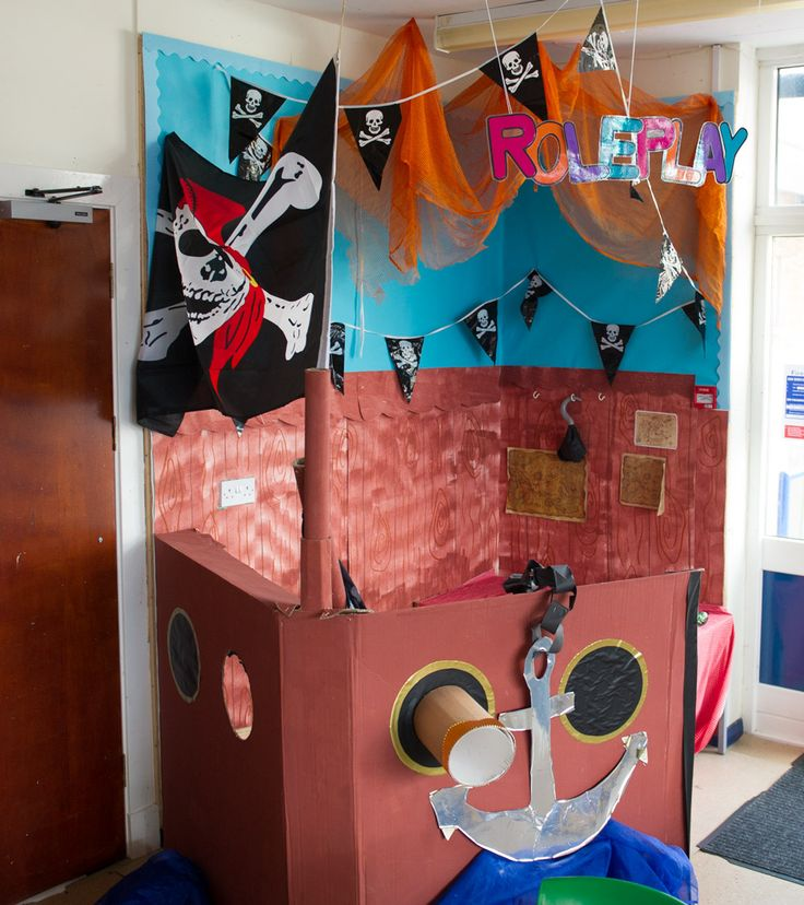 Pirate ship role play area.