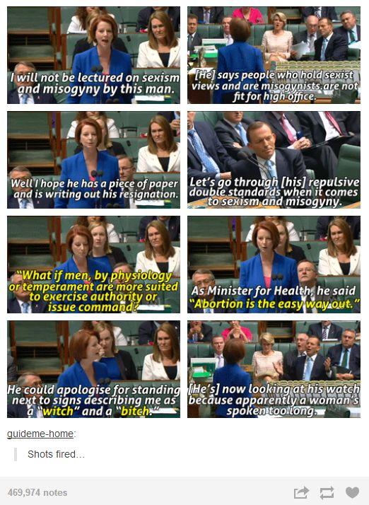 Julia Gillard misogyny speech