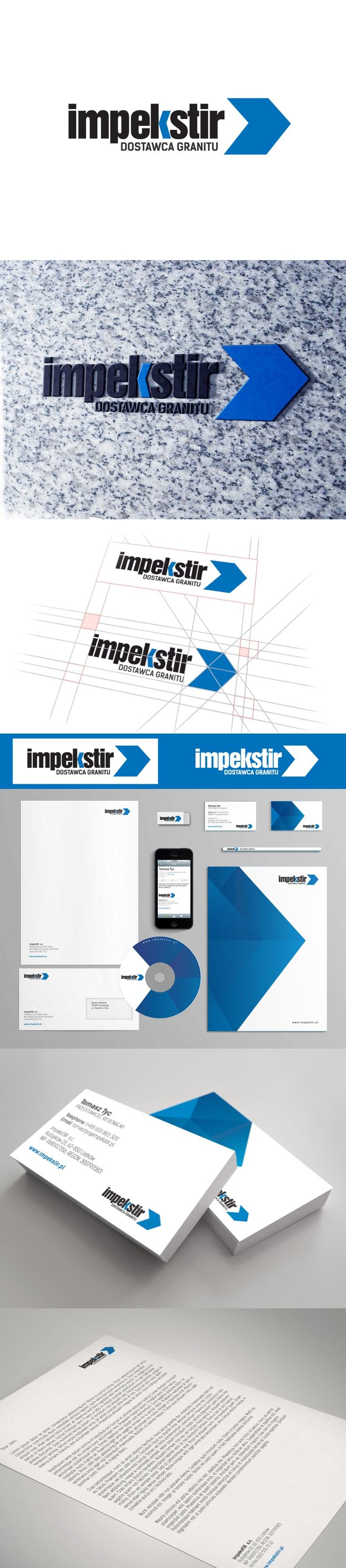 Identyfikacja wizualna firmy Impekstir zajmującej się dystrybucją granitu. Projekt obejmował stworzenie logo, materiałów reklamowych, katalogu, emaili oraz strony internetowej.
