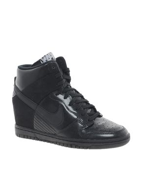 Nike Dunk Sky Hi Black Wedge Trainers - want these babies so bad but can't find a size 8 anywhere :( :(