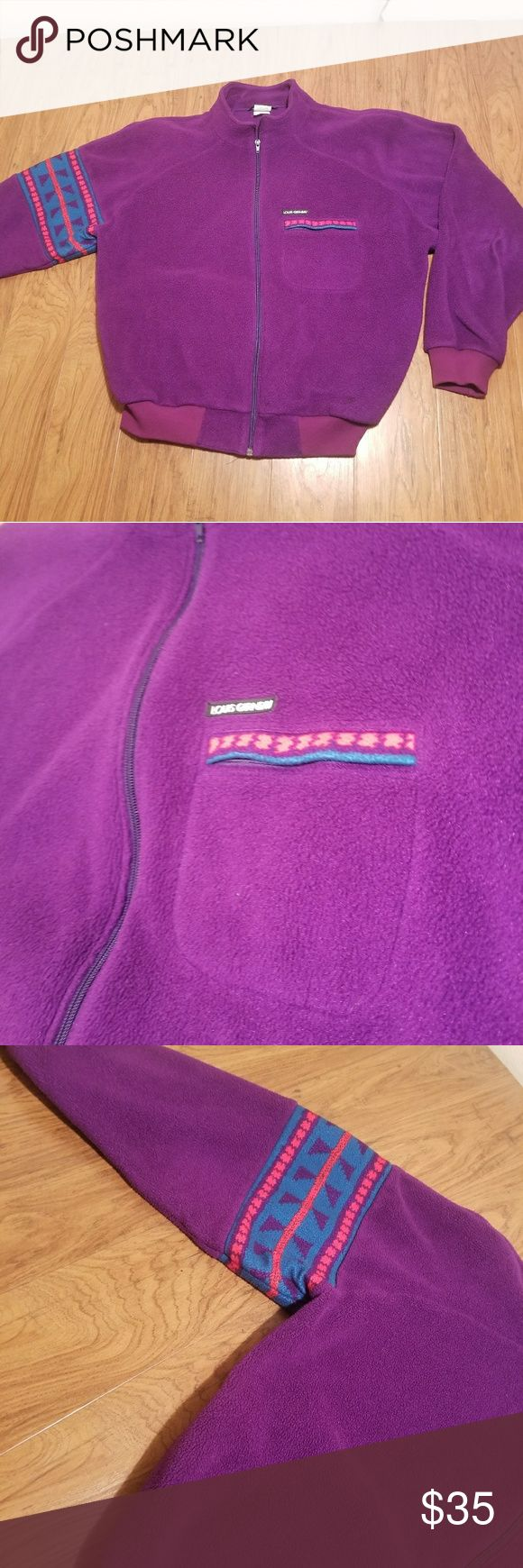 Louis Garneau Zip Up Fleece Jacket Brand: Louis Garneau Size: Mens Large Color: Purple Price: 34.99 Good condition. Any questions feel free to ask. We give full refunds if we can't solve a major problem.  Thank you.  From: Bnbllc louis garneau Jackets & Coats