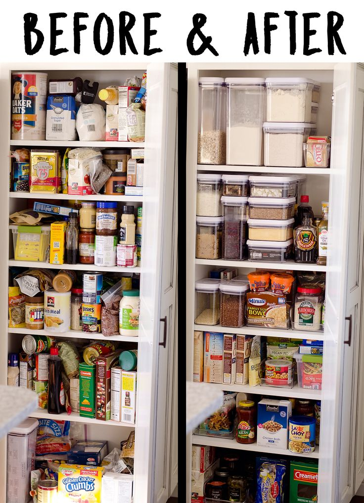 Kitchen Pantry Organization + Free Printable Labels are the perfect way to bring some cleanliness and simple order to your home! ~Easy to print food labels~