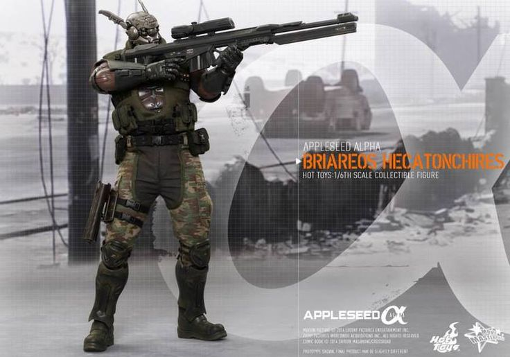 Hot Toys APPLESEED ALPHA Collectible Action Figure - Briareos Hecatonchires
