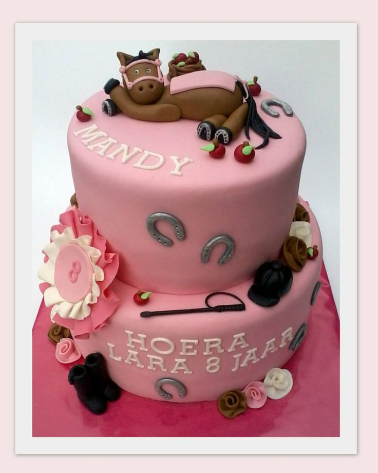 Horse riding  - A cake for a birthday girl. She loves her horse Mandy, and she loves here horse Mandy.