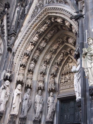 External Doorway of the Dom in Cologne - Gothic Architecture - A focus on decorative design