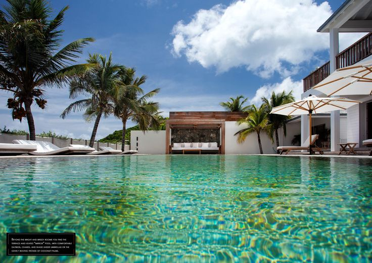 "The ""mirror"" pool of Villa Sand Club, Baie des Flamands - St Barths. Cocotraie Issue 10, Special Bali."