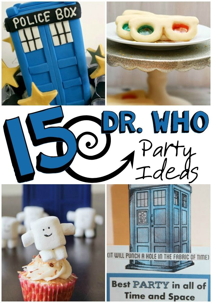 dr. who party ideas pin
