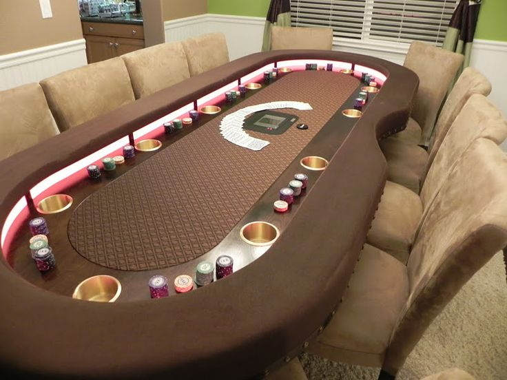 Poker Poker Table And Cutaway On Pinterest